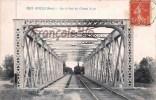 (32) Riscle - Sur Le Pont Du Chemin De Fer - Train Tren Locomotive - 2 SCANS - Riscle