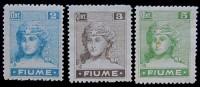 FIUME 1919 - ASSONE CATALOG / AFA 32-34 (3) - MH - 8. WW I Occupation