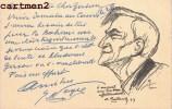 AUTOGRAPHE DEDICACE DE GEORGES WAGUE MIME ACTEUR DE CINEMA ARTISTE SPECTACLE THEATRE ILLUSTRATEUR A. GALLAND - Artisti