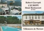 40 VILLENEUVE DE MARSAN, CPM, 1990, Hotel Restaurant L'Europe, Robert Garrapit - Villeneuve De Marsan