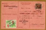 Carte Récépissé Ontvangkaart 341 Perforé Perforated Perfin Louis Delhaize Ransart à Wanfercée-Baulet + Timbre Fiscal - Belgique