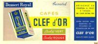 CAFE CLEF D´OR / Buvard - Kaffee & Tee
