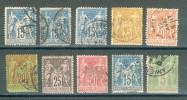 Collection FRANCE ; 1877-1900 ; Y&T N° ; Lot: 011 ; Oblitéré ; 2° Choix - 1876-1898 Sage (Type II)