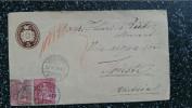 1879 10 Rp. Tüblibrief Von Bahnstempel Ambulant Nach Trieste 2 Sitzende Helvetia Als Zusatzfrankatur - Timbres