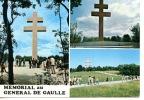 Colombey Les Deux églises Multivues Mémorial érigé A La Mémoire Du Général De Gaulle (2 Scan Timbres - Colombey Les Deux Eglises