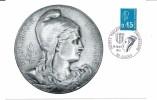 1663 - 0.45 BLEU - MARIANNE DE BEQUET - B2 - Maximumkarten