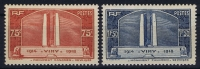 France: Yv Nr  316 - 317 MNH/**  Sans Charnière  1936