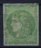 France: Yv Nr 42 B Used Obl  Report II - 1870 Uitgave Van Bordeaux