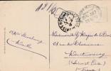 "1910 - Strasbourg - Cachet  ""Bahnpost ZUG  337 "" + ""T"" Sur Cpa De Strasbourg  - 3 Scan"