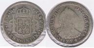 BOLIVIA ESPAÑA CARLOS III REAL 1774 POTOSI PLATA SILVER W - Bolivia