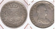 BOLIVIA ESPAÑA FERNANDO VII 8 REALES 1816 POTOSI PLATA SILVER W - Bolivia