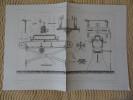 PETITE MACHINE A RABOTER LES METAUX PAR MM. MEYER Publication Industrielle Cloard Chardon Armengaud - Máquinas