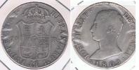 ESPAÑA JOSE NAPOLEON 20 REALES 1809 MADRID PLATA SILVER W - Colecciones