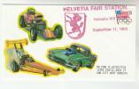 1993 HELVETIA FAIR  USA EVENT COVER  MOTOR CAR RACING Label  Stamps Sport - Cars