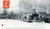"""Cpa 1910 """"la Bonne Nouvelle"""" 2°bateau De La Mission évangélique De France, Belle Péniche Avec Clocher (47.94) - La Seine Et Ses Bords"""