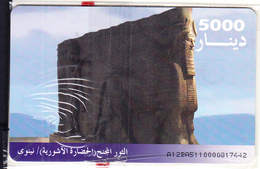 IRAQ(chip) - Ashur Monument, ITPC Telecard 5000 IQD(No 4), Chip GEM3.1, Mint - Irak