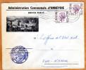 Enveloppe Brief Cover Administration Communale D'Annevoie Yvoir - Belgio