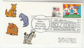 1993 'ALL ABOUT KIDS' Cincinnati USA EVENT COVER Stamps KANGAROO ZEBRA BEAR Label - Stamps