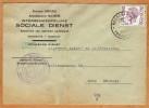 Enveloppe Brief Cover Intergemeentelijke Sociale Dienst Arrondissement Maaseik Neeroeteren-Opoeteren - Belgique