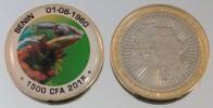 Bénin 1500 CFA 2015 Bimetal Couleurs Animal - Benín