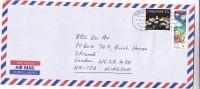 Air Mail SINGAPORE COVER 35c NUDIBRACNH 75c CLEAN AIR Etc Stamps To GB, Environment Fish - Singapore (1959-...)