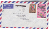 Air Mail SINGAPORE Multi DRAGON DANCE Stamps COVER To Gb - Singapore (1959-...)
