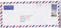 1982  Air Mail SINGAPORE  COVER  75c CHANGI AIRPORT Stamps To GB Aviation - Singapore (1959-...)