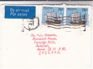 1982 Air Mail SINGAPORE Multi Stamps COVER  SAILING SHIP , Airmail Label - Singapore (1959-...)