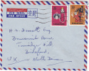 1972 Air Mail SINGAPORE Stamps COVER 25c 50c DANCE To Gb - Singapore (1959-...)