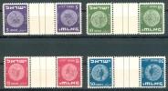 Israel - 1950, Michel/Philex No. : 23-26, - TETE BECHE GUTTER PAIRS - MLH - See Scan - Israel