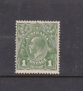 Australia 1914-24 Single Watermark King George V, SG 76, One Penny Green Mint Never Hinged - 1913-36 George V: Heads