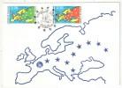 CM - Carte Maximum Card - 1990 - YT Service 104 + 105 - CONSEIL DE L'EUROPE - Officials