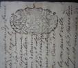 1713 Fumel Vente De Jean De Raffin De Lasgarrigues, à Un Cordonnier De Bourlens Cachet Généralité De Bordeaux - Manuscripten