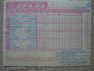 Greece 1979 Propo Rare Football Pool England & Italy Soccer Matches Prediction Coupon W/revenue Used No49 - Unclassified