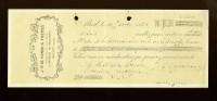 Chèque  ( B 21 )  Articles De Brasserie ( Brouwerij )  J.P.De Coninck Frères  Alost  Aalst - Autres