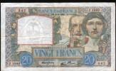 """20 FRANCS """" SCIENCE ET TRAVAIL """" 26-9-1940 - Z.1092 - 1871-1952 Anciens Francs Circulés Au XXème"""