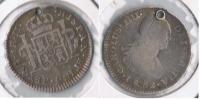 GUATEMALA ESPAÑA CARLOS IIII  REAL 1802 PLATA SILVER W - Guatemala