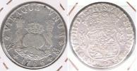 MEXICO ESPAÑA CARLOS III 8 REALES 1766  PLATA SILVER W. - Mexico