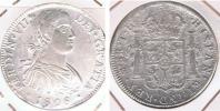 MEXICO ESPAÑA FERNANDO VII 8 REALES 1808  PLATA SILVER W - México