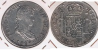 MEXICO ESPAÑA FERNANDO VII 8 REALES 1819  PLATA SILVER W - México