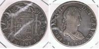 MEXICO ESPAÑA FERNANDO VII 8 REALES 1819  PLATA SILVER W3 - México
