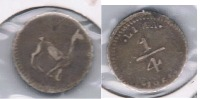 PERU CUARTO REAL 1855 LIMA PLATA SILVER W - Perú