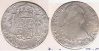 PERU ESPAÑA CARLOS IIII 8 REALES 1795 LIMA PLATA SILVER W - Perú