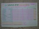 Greece 1990 Propo Football Pool Greek & Italy Soccer Matches Prediction Triplicate Coupon New No1 - Football