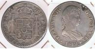 PERU ESPAÑA FERNANDO VII 8 REALES 1812 LIMA PLATA SILVER W - Perú
