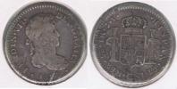 PERU ESPAÑA FERNANDO VII REAL 1817 LIMA PLATA SILVER W CONTRAMARCA  ESTRELLA - Perú