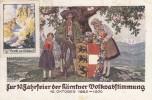 Nr 489, 491, Op Kaart Met Vignet, 10 Jahrfeier Der Kärntner Volksabstimmung (07509) - 1918-1945 1st Republic