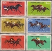 Romania 1974 Horse Racing In Romania Centenary Sports Horses Animals Mammals Stamps MNH SC 2475-2480 Michel 3182-3187 - Horses