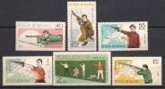 Romania 1965 Sports Shooting Guns Weapons Rifle European Championship Games Stamps MNH Michel 2407-2412 SC 1748-1753 - 1948-.... Republics