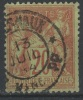 FRANCE - 1884-90 - Obl. - Y&T  96 -  20c - TYPE II - SAGE -